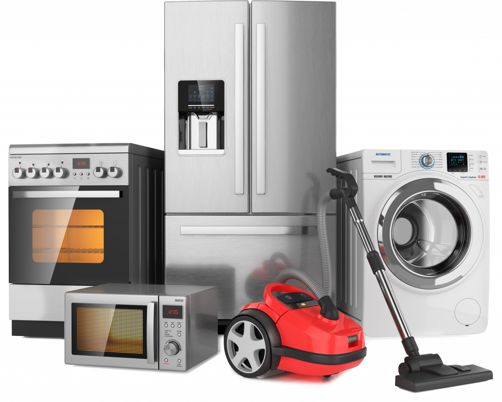 Common Home Appliances, Microwave, Oven, Vacuum, Refrigerator, Clothes Dryer